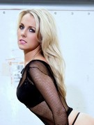 Becky Roberts Strips A Fishnet Top - Click Here